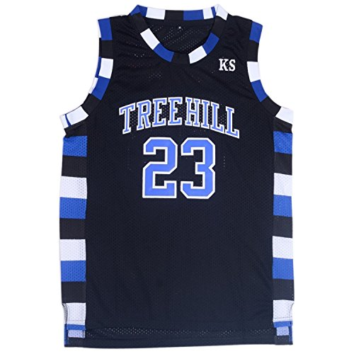 TUEIKGU Mens Ravens Basketball Jersey #23 Nathan Scott Sports Movie Jersey Black (Small) (Tree Hill Ravens Jersey)