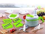 SHINKODA SK-2000E All In One Manual Food Processor (White/Green)