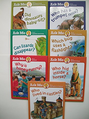 Ask Me (7 Set) Dinosaurs; Mammals; Reptiles; Science; Bugs; Ancient Times; History