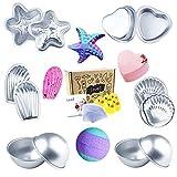 Loves Bath Bomb Mold - 48pcs Including Bath Bomb Molds/Heat Shrink Bags/Bath Toys, for Homemade Bath Bombs
