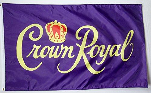 Crown Royal Beverage Flag 3' X 5' Deluxe Indoor Outdoor - Beverage Deluxe