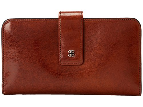 Bosca Women's Old Leather Checkbook Clutch Wallet (One Size, Old Leather Amber)