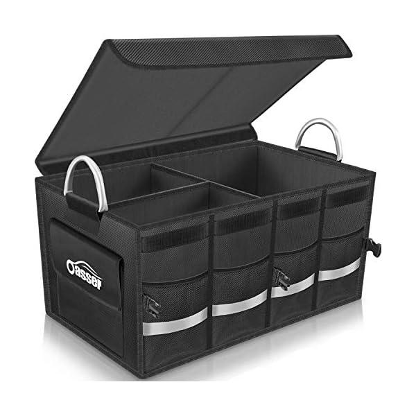 51y3lm1chUL Oasser Kofferraumtasche Kofferraum-Organizer mit Deckel Auto Kofferraum Organizer Autotasche Auto Kofferraum Box…
