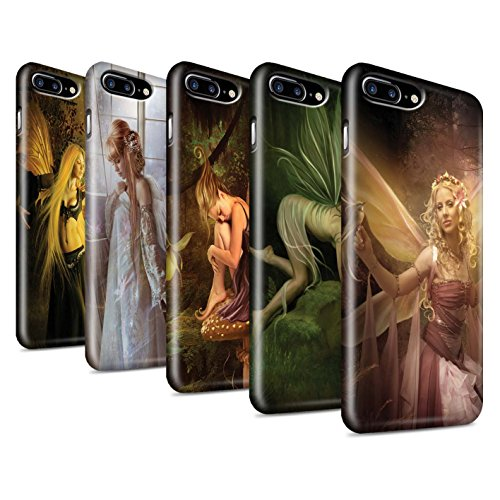 Officiel Elena Dudina Coque / Clipser Brillant Etui pour Apple iPhone 7 Plus / Pack 10pcs Design / Fées Élégantes Collection