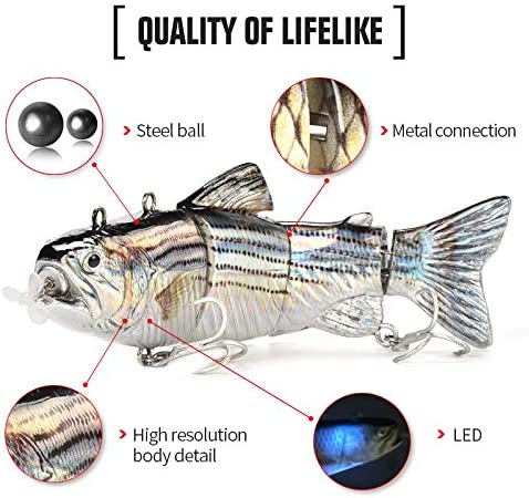 Joliano Robotic Swimming Fishing Electric Lures Hybrid Striped Shad Specialty