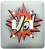 3dRose LLC lsp_116449_2 Yo inconformista friki estilo cómic exclamación expresión gráfico diseño de doble interruptor de palanca