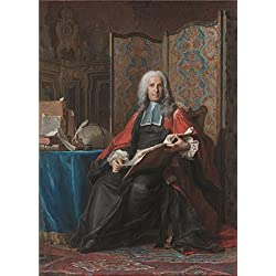 Oil Painting 'Portrait Of Gabriel Bernard De Rieux, About 1739 - 1741 By Maurice-Quentin De La Tour' 10 x 14 inch / 25 x 35 cm , on High Definition HD canvas prints, Garage, Home Office And Ki decor