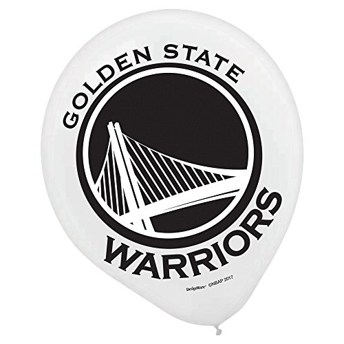 Amscan 110641 Golden State Warriors NBA Collection Printed Latex Balloons, Party Decoration, Multicolor