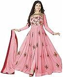 Dwarkesh Fashion Women's Georgette Dress Material (DF_Suit-014_Pink)