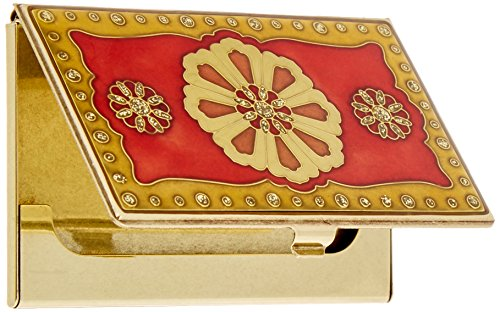 Brass Visol Lacquer Products Card Visol Business Holder Farah Products Red Sq5HB1z