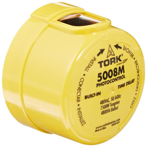 5000M Series Delayed Response Utility Grade Mov Surge Arrestor Photocontrol, 1800VA Ballast, 1'' Light Sensor, 3470-4620W Power, 480VAC Voltage, Yellow by TORK a brand of NSi Industries, LLC
