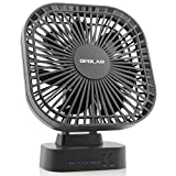 OPOLAR Battery Operated Desk Fan Large Capacity 5200mAh, 3 Speeds Timer, 7 Blades, Super Quiet, Powered USB Rechargeable Battery, Perfect Small Personal Fan Table & Outdoor