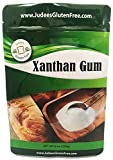 Judee's Xanthan Gum Gluten Free(8 oz) - USA Packed & Filled - Dedicated Gluten & Nut Free Facility - Perfect for Low Carb Keto Cooking & Thickening. Non-GMO (11.25 Oz Size Available Also)