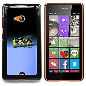For Microsoft Nokia Lumia 540 N540 - Wasp Bee Sting Yellow Black Blue Bug /Modelo de la piel protectora de la cubierta del caso/ - Super Marley Shop -