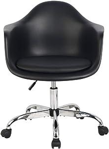 Hodedah Import Arm Bucket Seat Office Chair