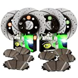 Approved Performance F15956 4WD 01 02 03 04 - [Front & Rear Kit] Performance Drilled/Slotted Brake Rotors and Carbon Fiber Pads