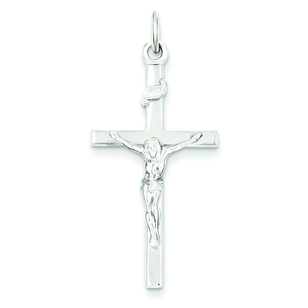 Sterling Silver INRI Crucifix Charm Jewelry Pendant