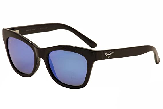 8a51a760f3e Maui Jim Sweet Leilani Polarized Sunglasses Gloss Black Frame  Blue Hawaii  Polarized lens