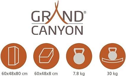 Plegable Compartimentos Plata Diferentes tama/ños Grand Canyon Armario de Camping Aluminio