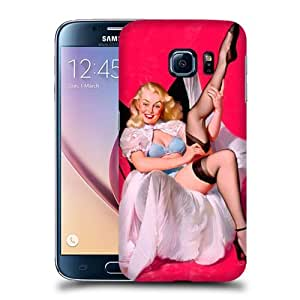 Case Fun Sheer Comfort Pin Up Girl Snap-on Hard Back Case Cover for Samsung Galaxy S6