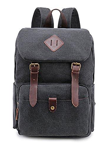 Weekend Shopper Vintage Canvas School Backpack Laptop Backpack (Vintage Shopper)