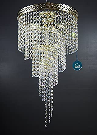 Lámpara de techo de cristal TWISTER 40 cm adornada con ...