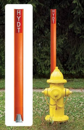 Hydrant/Object Marker, Flexible 4' Long Orange Post with a