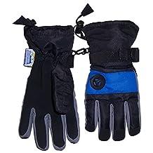 N'Ice Caps Boys Waterproof Colourblock Ski Glove with Air Hole