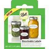Ball Dissolvable Labels, Set of 60