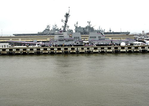 - Home Comforts A port-beam view of the U.S. Navy's newest guided missile destroyer USS Nitze (DDG 94) during her c