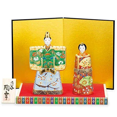 Japanese drawn Ceramic Porcelain kutani ware. Hina ningyo doll displayed during the Girls' Festival '' Japanese ceramic Hagiyakiya 1443