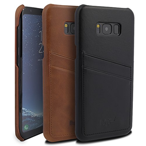 Samsung Galaxy S8 Plus 6.2″ (Verizon, AT&T, T-Mobile and Sprint) Leather Case, Mugen Power [Classic Series] Luxury Premium Genuine Real Leather with Credit Card / ID Card slots [Ultra Slim]