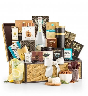 Grand Indulgence Gourmet Gift Basket - Premium Gift Basket for Men or Women (Deliverable Gift Baskets)