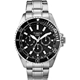 Timex Men's Dress Analog 44mm Stainless Steel Multifunction Bracelet Watch
