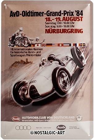 en Anglais et Italien Nostalgic-Art 22185 Plaque en m/étal Caf/é 20 x 30 cm
