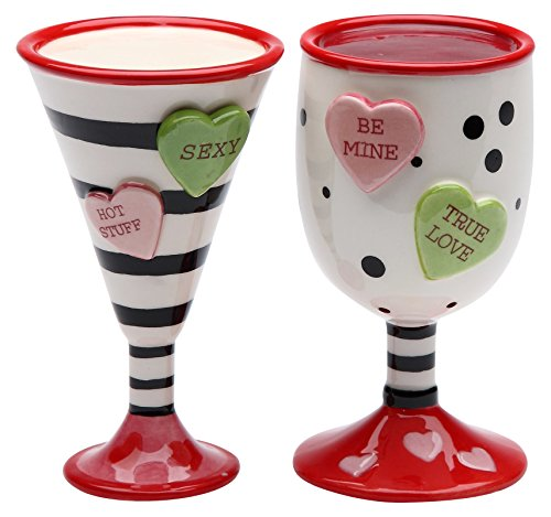 martini salt and pepper shakers - 1