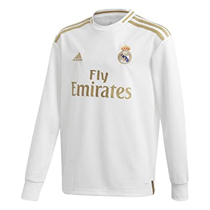 cheap for discount 31a2a 0946d Amazon.com : adidas 2019-2020 Real Madrid Home Long Sleeve ...
