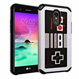 LG Stylo 3 Case, DURARMOR [Drop Protection] Vintage Nintendo NES Game Controller Dual Layer Hybrid ShockProof Slim Fit Armor Bumper Defender Protector Case Cover NES