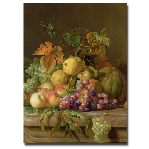 A Fruit Still Life by Jacob Bogdany, 24×32-Inch Canvas Wall Art