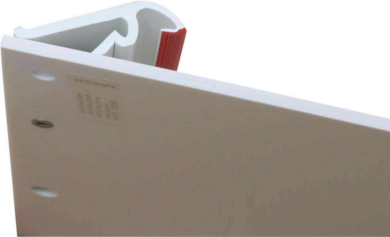 1 St/ück MAUL Klemmbrett DIN A4 Quer Bruchsichere Zeichenplatte 245x308x15 mm 2310202 Wei/ß Nass abwischbar