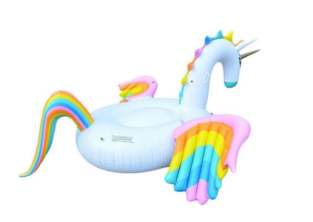 Sucastle Flotador Inflable para Piscina con Forma de Caballo Colorido, con para Adultos niños Playa Fiestas de Piscina Juegos Decoraciones de salón terraza280x230x135cm