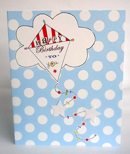 - Paper Salad Happy Birthday To You Open Lovely Bright Modern Kite & Star Design Greeting Card
