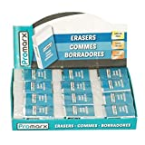 Promarx Erasers 6.5mm in 24ct PDQ, Case of 576