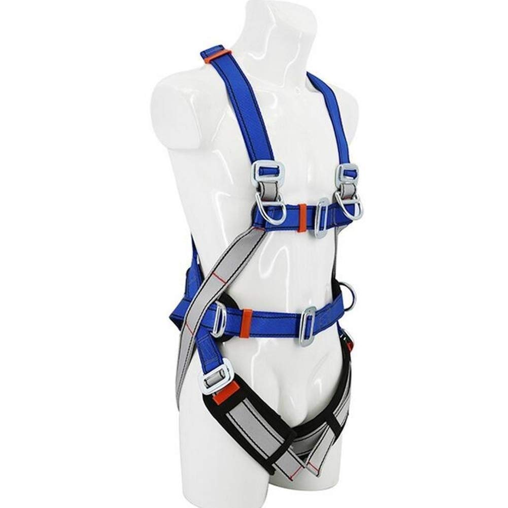 DaQingYuntur Seat Belt Double Back Outdoor Aerial Work Fall-Proof Full Body Harness, Mountain Climbing, Expansion, Protection, Caving, Speed Drop Multi-Function Utility by DaQingYuntur
