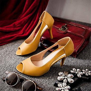 LvYuan Tacón Stiletto-Confort Innovador-Sandalias-Exterior Vestido Informal-Materiales Personalizados Semicuero-Azul Amarillo Rosa Pink