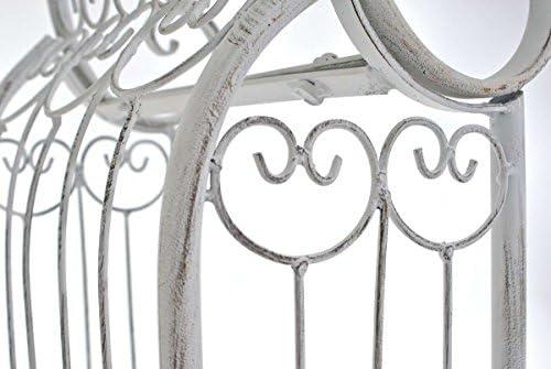 Blanc Antique CLP Arche de Jardin en Fer Forg/é Alessia I Hauteur du Passage 228 cm Largeur 123 cm I Arceau /à Rosiers R/ésistante I Support pour Plantes Grimpantes I Couleur
