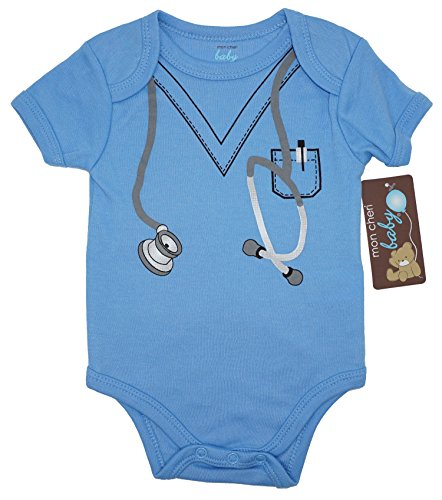 Doctor Scrubs Funny Baby Boy Girl Novelty Uniform Costume Infant - Cute Bodysuit