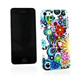 Kit Me Out CAN TPU Gel Case for Apple iPhone 5C - Multicoloured Circles With Flowers
