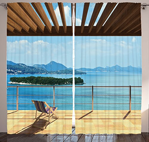 Ocean Decor Curtains for Bedroom Drapes for Living Room Inte