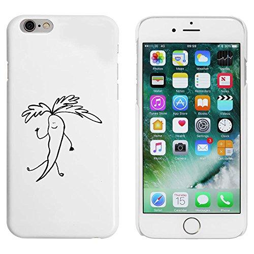 Blanc 'Carotte Saluer' étui / housse pour iPhone 6 & 6s (MC00013654)